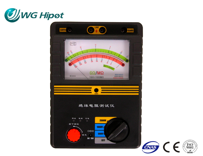 Pointer Insulation Resistance Tester